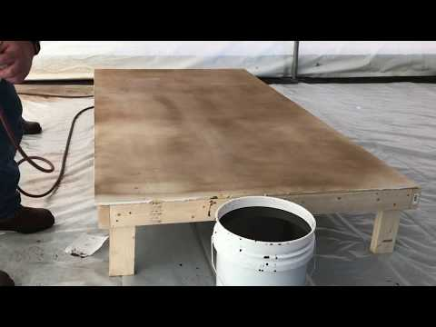 Concrete stain. How to stain concrete floor with water based stain