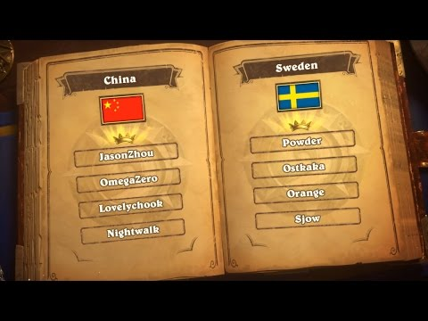 China vs Sweden - Group A - Match 1 - Hearthstone Global Games