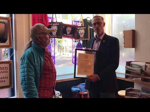 Congressman Huffman Awards Los Bagels With Sustainability Award