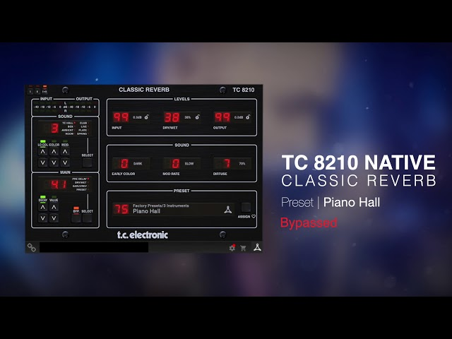 TC 8210 Classic Reverb Native Plug-In - Sound Examples