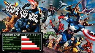 Escala de Poderes dos Personagens Marvel