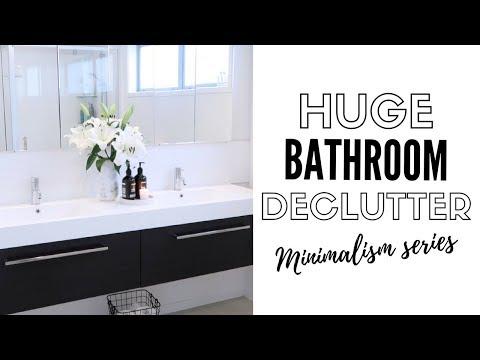 10 Tips To A Minimalist Bathroom | Decluttering & Organization