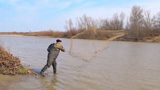 Рыбалка Кастинговой сетью Открытие рыболовного сезона Разведка боем