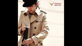 Осенняя новинка длинная ветровка женское двубортное тонкое хлопковое пальто в британском стиле
