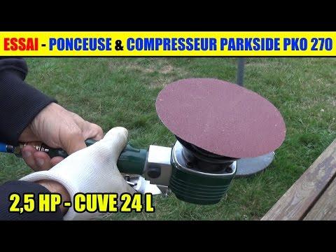 Ponceuse Orbitale Parkside Test Compresseur Parkside Pko 270 - 24l - 2,5 Hp