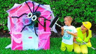 Download Vlad and Mama repairing children's playhouses Mp3 and Videos