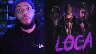 Khea - Loca Remix Ft. Bad Bunny, Duki, Cazzu | Lyric Video - Loca Remix Lyric Video Reaccion