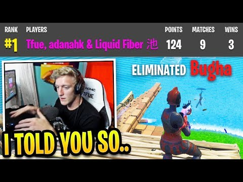 Tfue *UNSEEN* Games Winning Champion Series Finals with NEW Trio...
