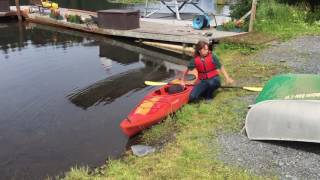 Getting in and out of a kayak