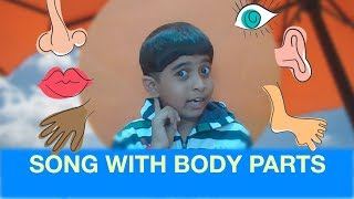 Song with Body Parts for Kids |  Santosh Live Story Telling