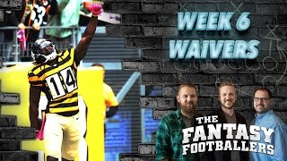 Fantasy football 2016 - week 6 waivers, streams of the week, injury news - ep. #283