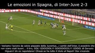 INTER-JUVE 2-3 in SPAGNA  -