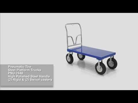 Steel Platform Cart with Large Wheels