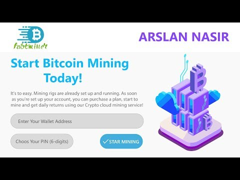 FastMiner.io New Free Bitcoin Cloud Mining Site | Earn Daily 0.005 Bitcoin Live 2019 In Urud Hindi