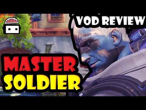 Overwatch - Master Soldier 76 (3500 SR) VOD Review: Positioning