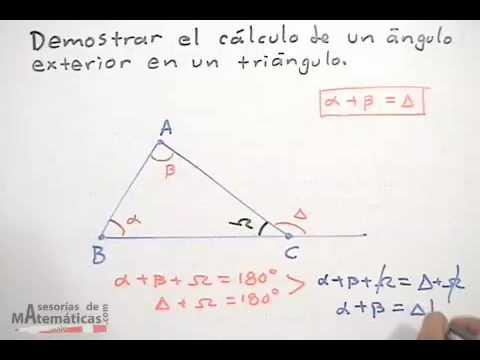 Cálculo De Un ángulo Exterior De Un Triángulo Youtube