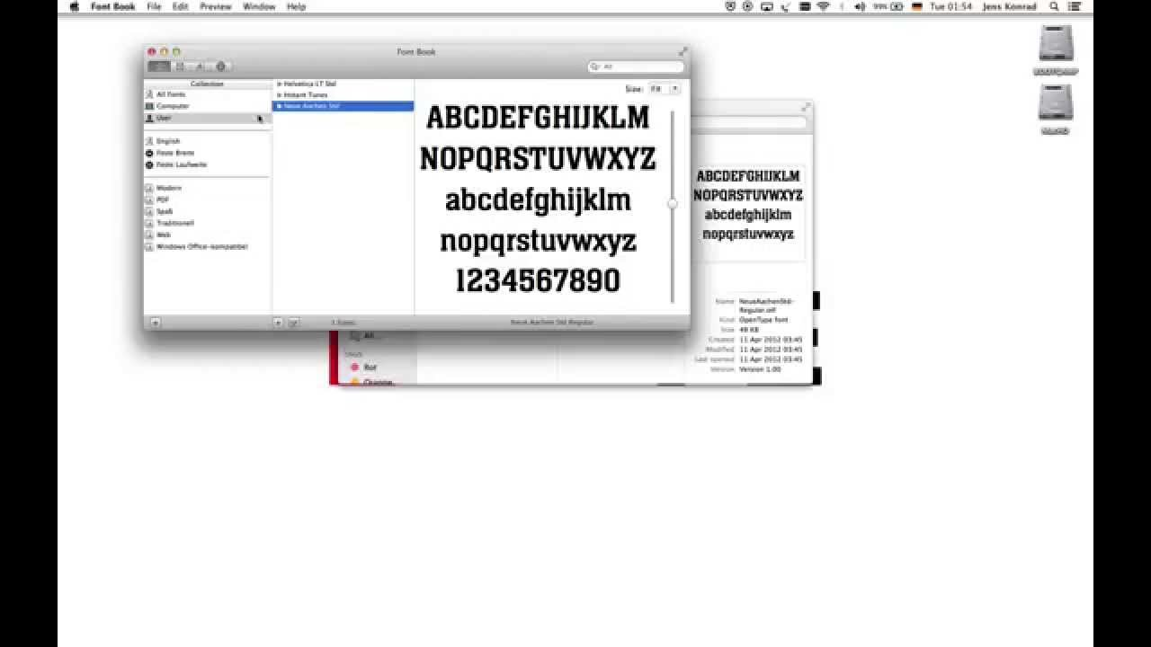 how to find and install fonts on a mac