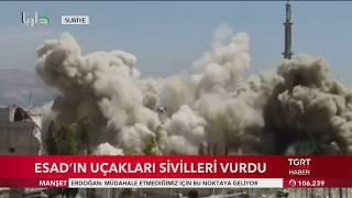 Esad Uçakları Sivilleri yine vurdu. Suriye