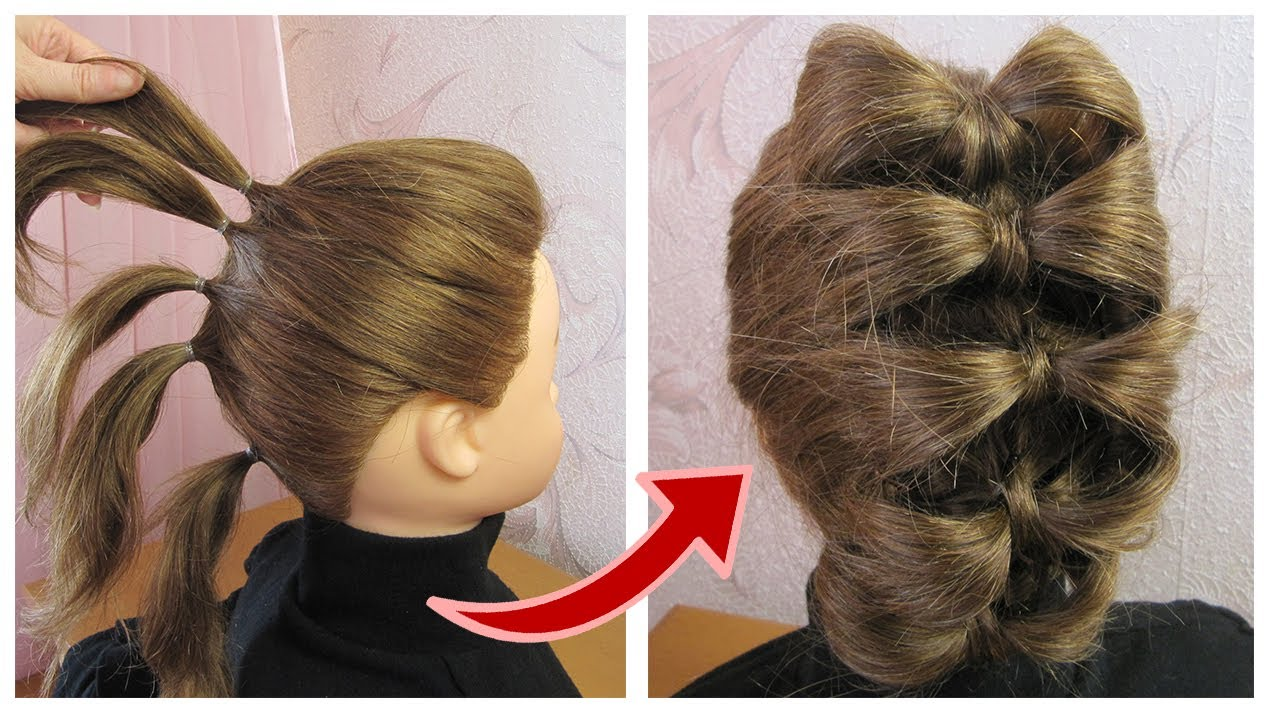 Easy Bow Party Hairstyle For Short Hair Coiffure Avec Noeud Papillon Cheveux Courts Mi Longs Youtube