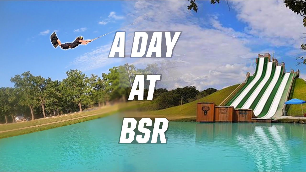 A DAY AT BSR! - SLIDES - WAKEBOARDING - SURFING - SUMMER