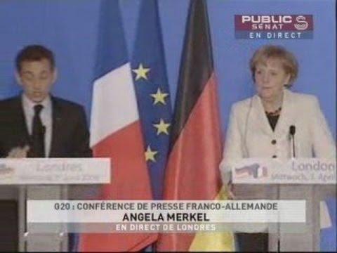 Conférence de presse de Nicolas Sarkozy et Angela Merkel - Evénement (01/04/2009)