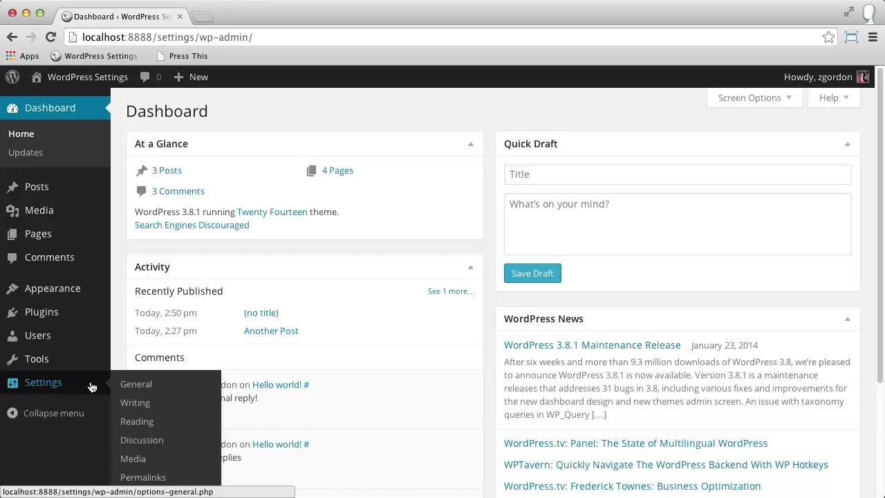 09 WordPress Permalink Settings - YouTube