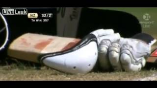 Cricket Player Gets Smashed in the Nads,Cracks his cup
