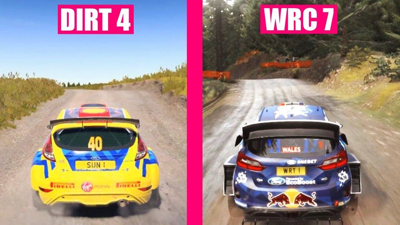 Wrc 7 Vs Dirt 4 Cars Sound Comparison Doovi