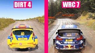 WRC 7 vs DiRT 4 : Cars Sound Comparison