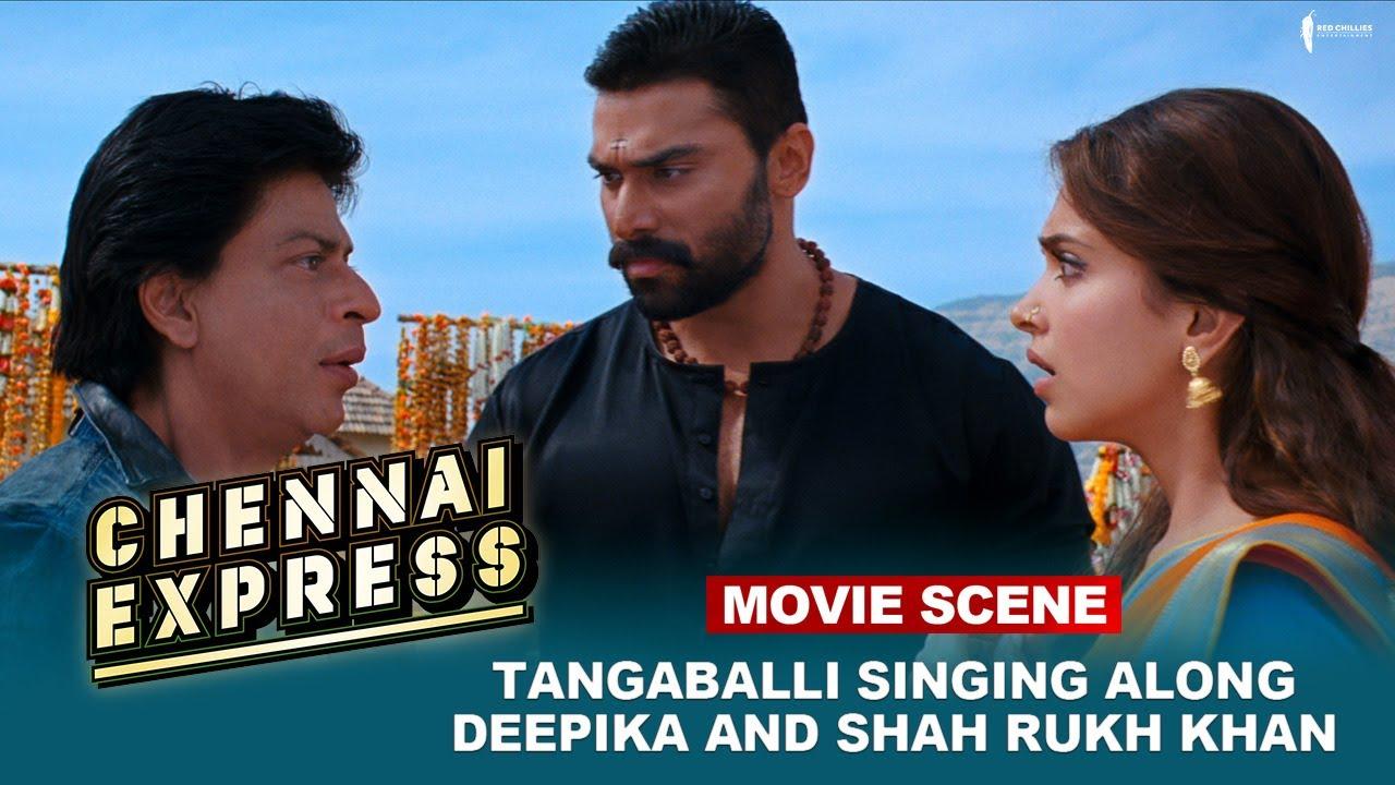 Download Tangaballi Singing Along Deepika And Shah Rukh Khan    Movie Scene   Chennai Express