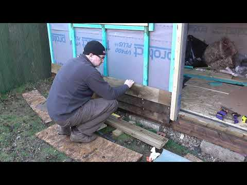 DIY Man Cave / She Shed – Part 15 – Fixing Feather Edge Cladding