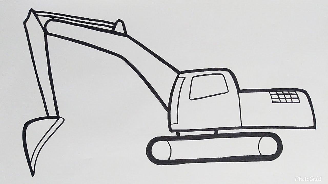Cara Paling Mudah Menggambar Excavator Beko Mudah Diikuti Caranya Tutorial Indonesia Youtube