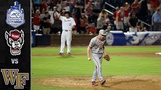 NC State vs. Wake Forest ACC Baseball Championship Highlights (2019)