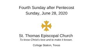 Fourth Sunday after Pentecost   Jun 28, 2020