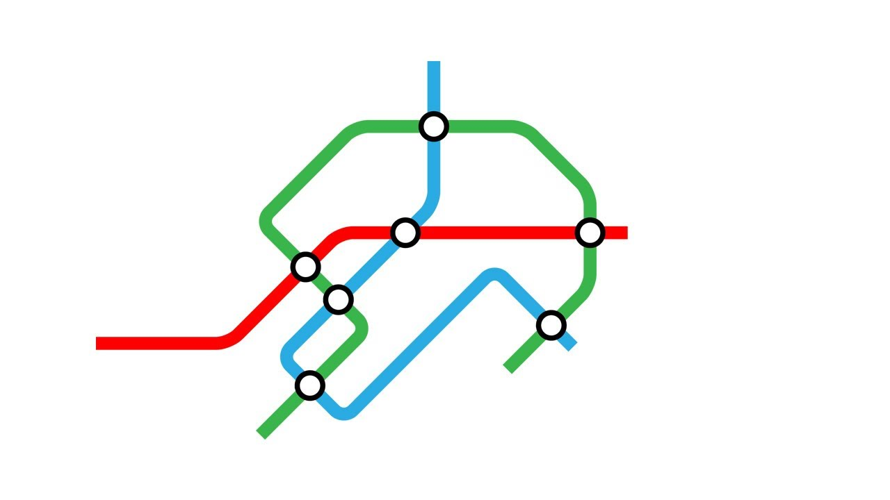 How To Outline Story Like Subway Map.Illustrator Tutorial Lines With Rounded Corners Metro Subway Map