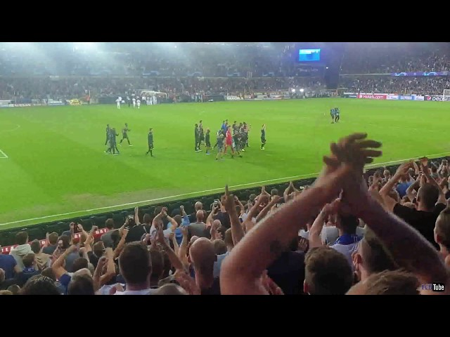 2019-2020 - Club Brugge-Lask Linz - Feestje Na De Overwinning