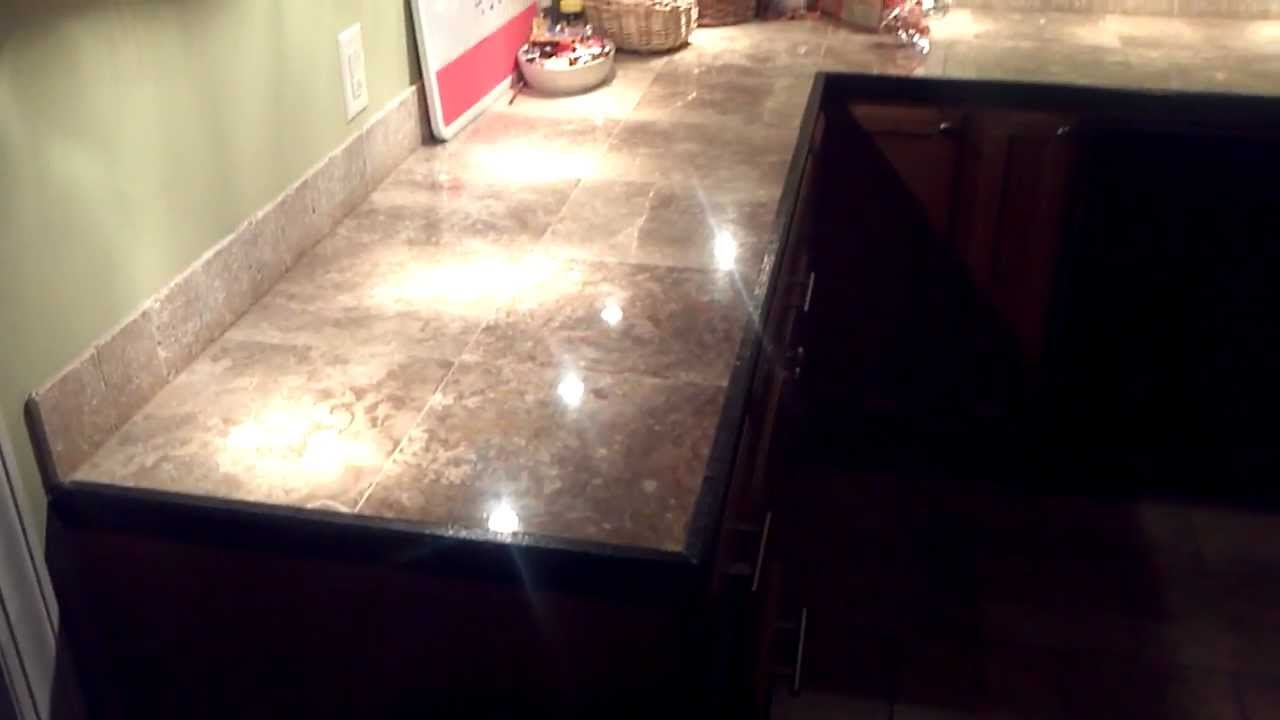 Kitchen Counter Tile Install Marble Tile Countertops With Ease Youtube