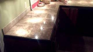 Install Marble Tile Countertops With Ease.