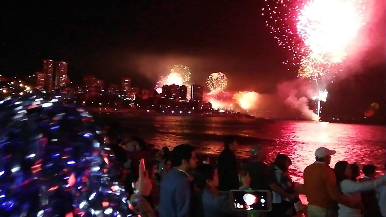 Fuegos Artificiales 2019 Vina Del Mar Caleta Abarca Familia Youtube