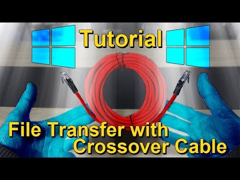 Transfer Files between 2 PCs with Crossover LAN Cable -- Tutorial