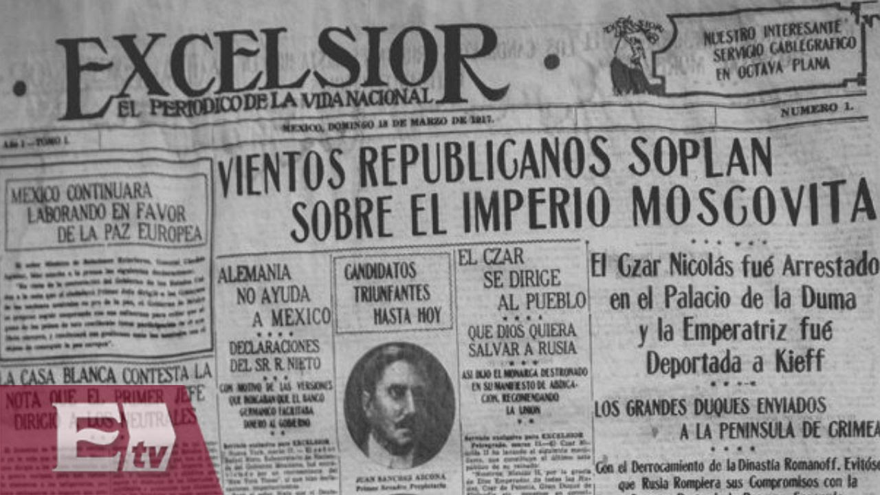98 Anos Del Periodico De La Vida Nacional Excelsior Todo Mexico Youtube