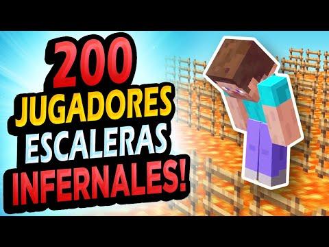 👉 Metí 200 Jugadores en Escaleras Imposibles!!! Minecraft Reto