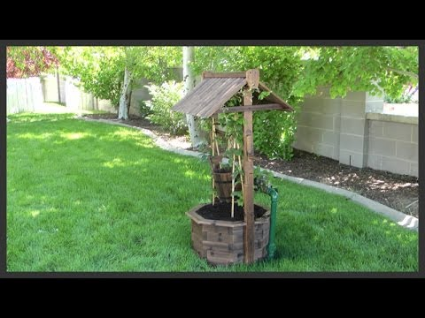 Wishing well lawn ornament assembly installation youtube wishing well lawn ornament assembly installation solutioingenieria Images