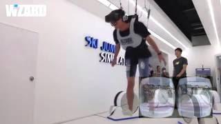 VR ski jump simulator - wizard