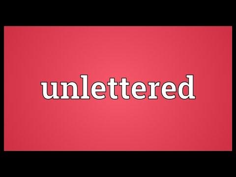 Header of unlettered