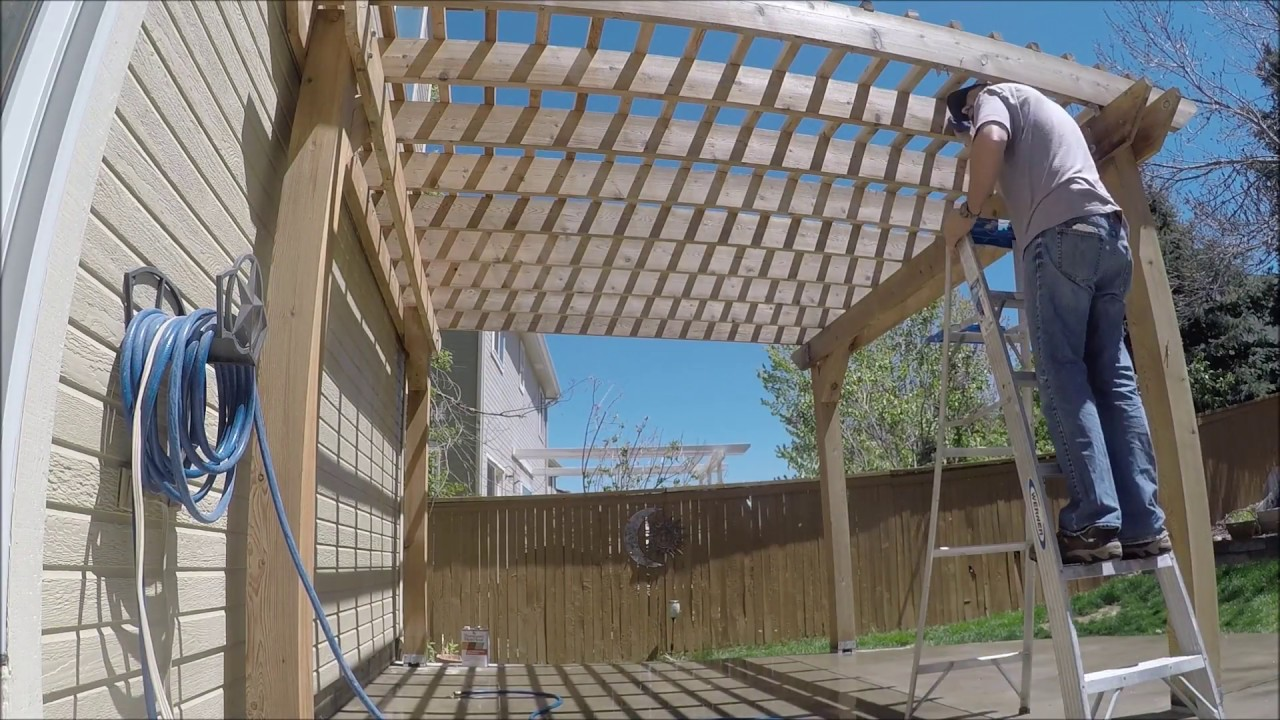 How To Clean And Seal A Cedar Pergola The Handyman