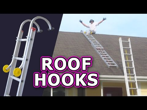 Roof Hook With Wheel Ladder Hooks Climb Safely Steep