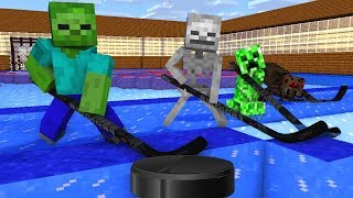 Monster School : ICE HOCKEY CHALLENGE - Minecraft Animation