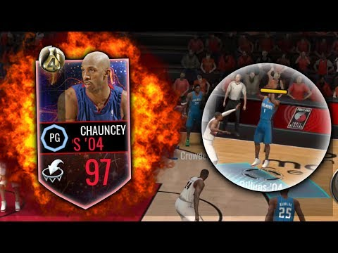 NBA Live Mobile 97 OVERALL CHAUNCEY BILLUPS GAMEPLAY AND REVIEW!!  UNSTOPPABLE 04 PISTONS LEGEND!!!