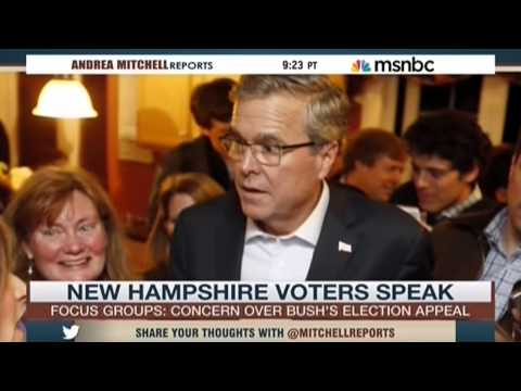 A NH  focus group expressed concerns over Jeb Bush